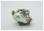 Baroque pearls ring . Hi-Bespoke