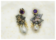 Baroque pearls earrings . Hi-Bespoke
